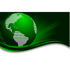 vector green background with earth vector image