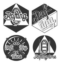Vintage rafting emblems vector image