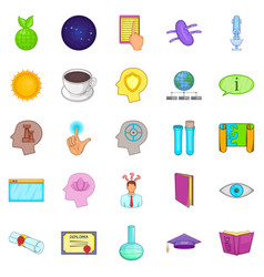 book icons set cartoon style vector image vector image