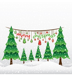 creative merry christmas greeting card design vector image vector image
