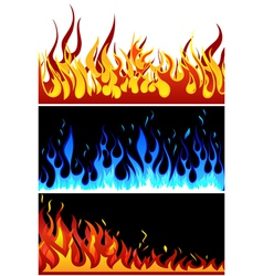 fire backgr set vector image vector image
