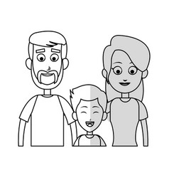 happy family icon vector image vector image