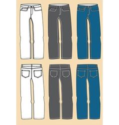 Retro jeans design vector image