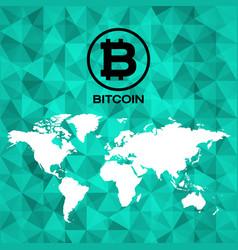 bitcoin logo icon design vector image vector image