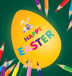 Easter day for egg with pencil sketch on design vector image vector image