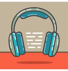 Headphones red vector image