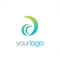 letter d company logo vector image