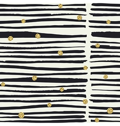 Seamless pattern Black hand drawn bold lines and vector image vector image