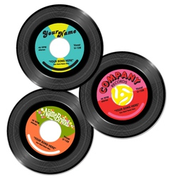 Vintage 45 record label designs set 1 vector