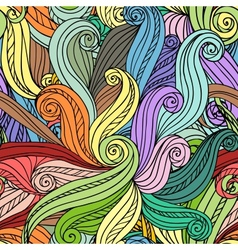 Abstract seamless hand-drawn pattern vector image vector image