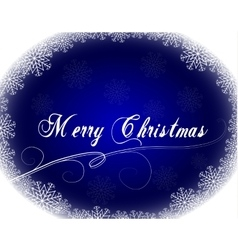 Christmas card with snowflakes frame vector image