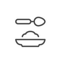 food line icon vector image vector image