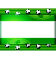 Football soccer panel on green vector image vector image