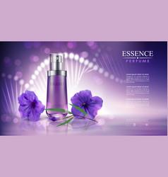 06cosmetic purple flower vector