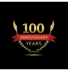 100 Anniversary years vector image