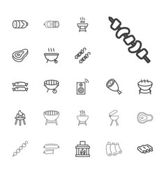 22 grill icons vector