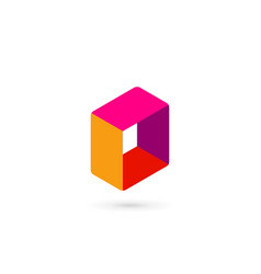 Abstract business logo icon design with cube vector
