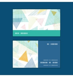 abstract fabric triangles horizontal stripe frame vector image