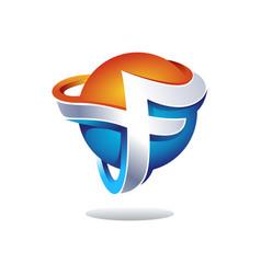 Abstract letter f logo design inspiration vector