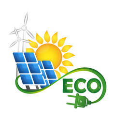 Alternative sources of energy eco symbol vector