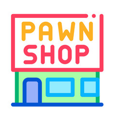 Appearance pawnshop icon outline vector