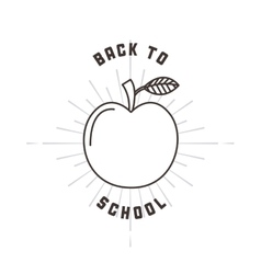 Apple icon Back to school design graphic vector