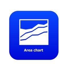 Area chart icon blue vector