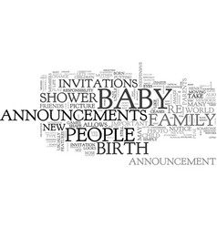 Baby announcements are a fun and inexpensive way vector