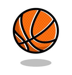 basketball sport ball logo line 3d icon vector image