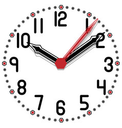 black and white clock simple fifty edition vector image