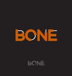 bones typography logo vector image