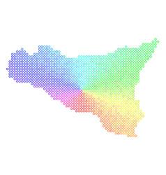 Bright sicilia map vector