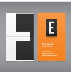 Business card letter e vector