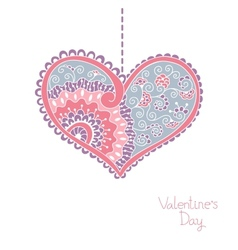 Card with hearts for Valentine day vector image