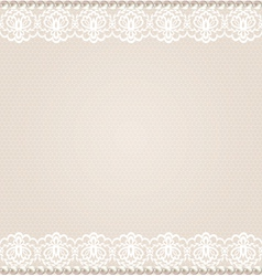 Card with lace floral border vector