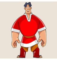 cartoon big man with big hands vector image