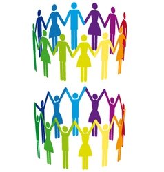 colorful people in circle vector image