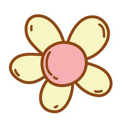 cute flower cartoon vector image