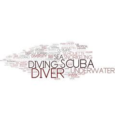 Diver word cloud concept vector