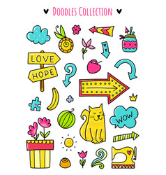 doodle elements vector image