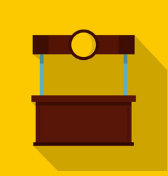Empty counter with canopy icon flat style vector