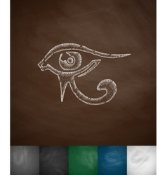 eye of Horus icon vector image