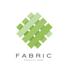 Fabric original logo creative sign for company vector