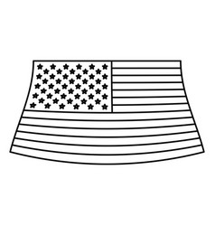 flag united states of america monochrome icon on vector image
