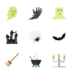 flat icon festival set of zombie phantom magic vector image vector image