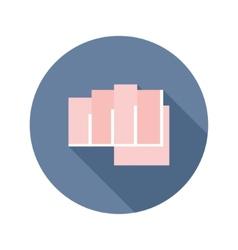 Flat modern round fist icon vector