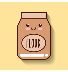 Flour food icon vector