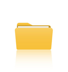 folder icon flat design graphic folder vector image