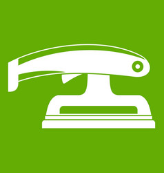 Fret saw icon green vector