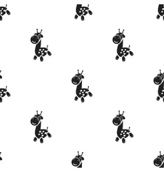 Giraffe black icon for web and vector image